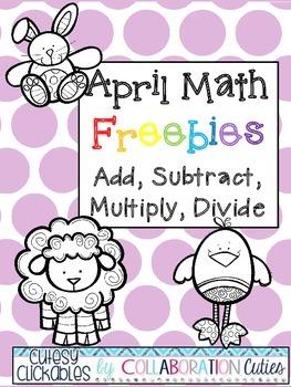 April Math Freebies