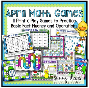 April Math Games - Print and Play!