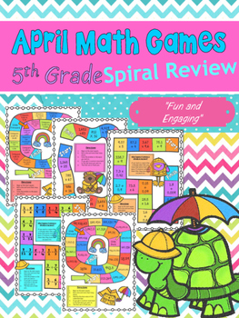 April Math Games Spiral Review: Fifth Grade