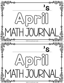 April Kindergarten Math Journal