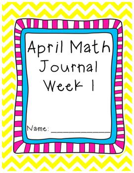 April - Math Journal - Calendar Math - First Grade - Common Core - 5 weeks