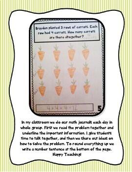 April Math Journal (Kindergarten - Common Core)