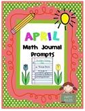 April Math Journal Prompts