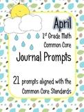 April Math Journal Prompts - 1st Grade. Common Core