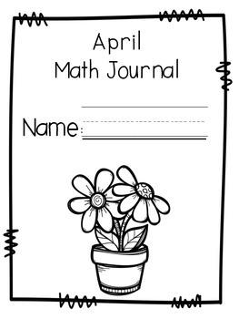 April Math Journal Second Grade