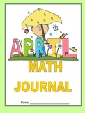 April Math Journal to fit CCSS Measurement/Base Ten/Algebraic Thinking/Geometry