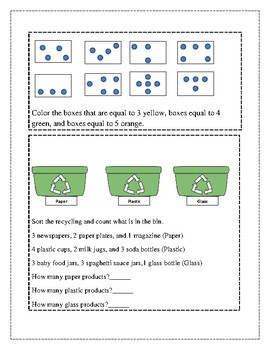 April Math Journal K-1st