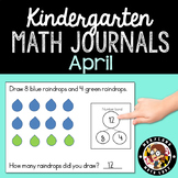 April Math Journals with Number Bonds: Kindergarten