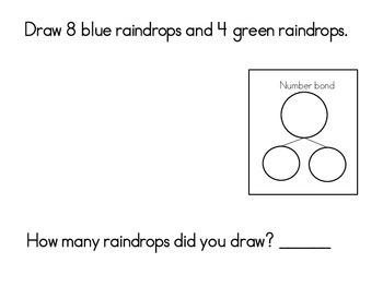 April Math Journals with Number Bonds: Kindergarten