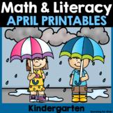 April Math & Literacy Printables {Kindergarten}