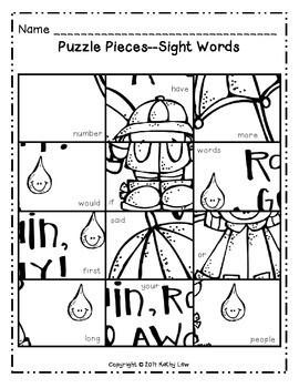 April Math & Literacy Picture Puzzles