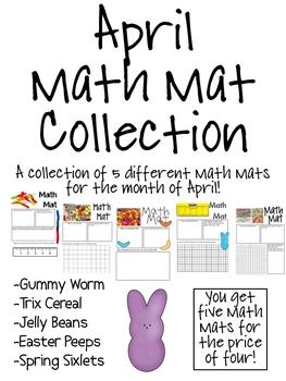 April Math Mat Collection:  ASSORTED FIVE PACK
