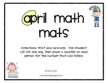 April Math Mats