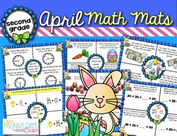 April Math Mats {second grade}
