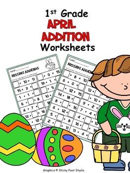 April Math No Prep Pack - 1st Grade