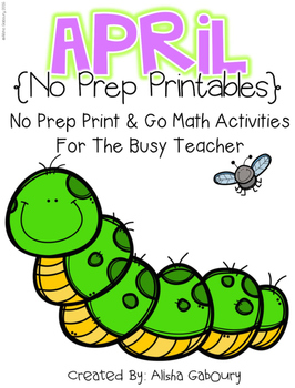 April Math No Prep Printables [2nd Grade]