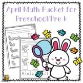 April Math Pack for Preschool/Pre-K