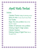 April Math Packet
