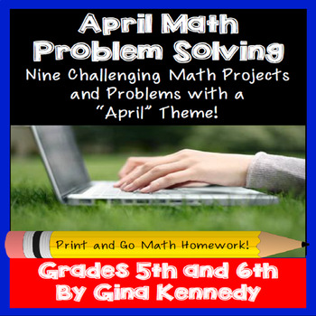 April Math Problem Solving Project for Upper Elementary Students
