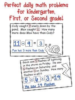 April Math Problem of the Day Mini Book