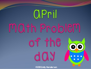 April Math Problem of the Day PowerPoint