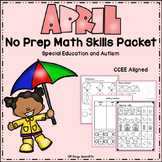 April Math Skills Packet- Special Education and Autism