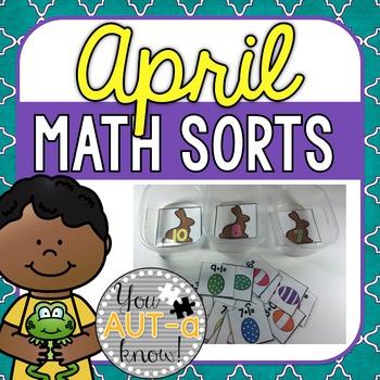 April Math Sorts - CCSS Aligned for Grades K-2