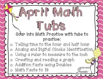 April Math Tubs