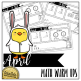April Math Warm Ups - Differentiated for 2 levels!