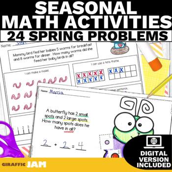 April Math Word Problem Activities