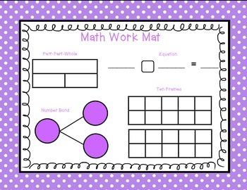 April Math Work Mat