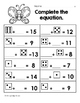 April Math Worksheets & Centers for First Grade (English) Spring 1st