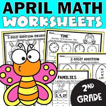 April Worksheets   April Math Worksheets for 2nd Grade