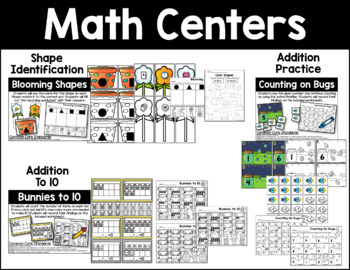 April Math and Literacy Activities Bundle