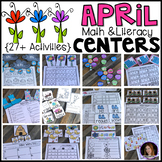 April Math and Literacy Centers {CCSS}