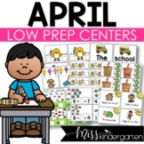 Low Prep April Centers | Math and Literacy Centers