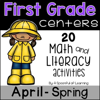 April Math and Literacy Centers - First Grade