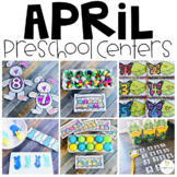 April Math and Literacy Centers Preschool: Spring, Insects, Eggs