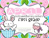 April Math and Literacy Centers {first grade}