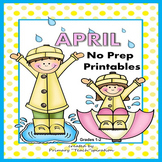 1st & 2nd Grade Math and Literacy Printables - April