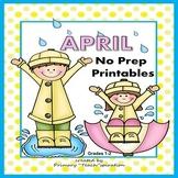April Math & ELA Worksheets Distance Learning Digital Activities 1st  & 2nd