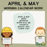 April & May Good Morning Calendar Work