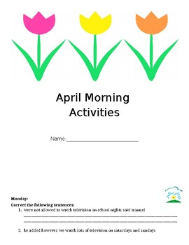 April, May and June Morning Activities