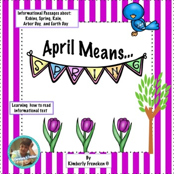 April Themed Informational Text Passages and Printables