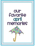April Memory Writing Prompt