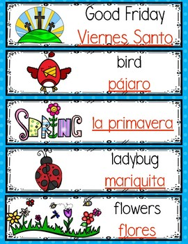 April Monthly Bilingual Words