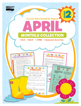 April Monthly Collection, Grade 2 Printable | 9781483848396