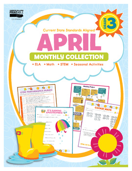 April Monthly Collection, Grade 3 Printable | 9781483848402