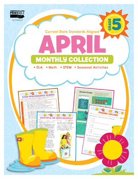 April Monthly Collection, Grade 5 Printable | 9781483848426