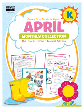 April Monthly Collection, Grade K Printable | 9781483848372